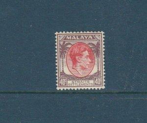 Straits Settlements 1937/41 GV1 Die 1, 40c MM SG 288