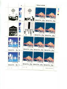 Malta  1987 Europa sheet VF NH  - Lakeshore Philatelics