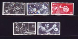 Sweden Sc 923-27 1972 Glassmaking stamp set mint NH