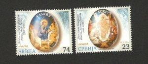 SERBIA-MNH** SET-EASTER-ICONS-2015.