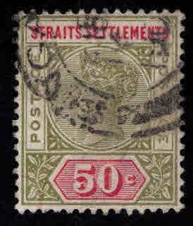Straits Settlements Scott 87 Used