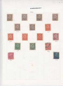 paraguay stamps page ref 16499
