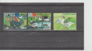 Faroe Islands  Scott#  488-490  MNH  (2007 Domesticated Birds)