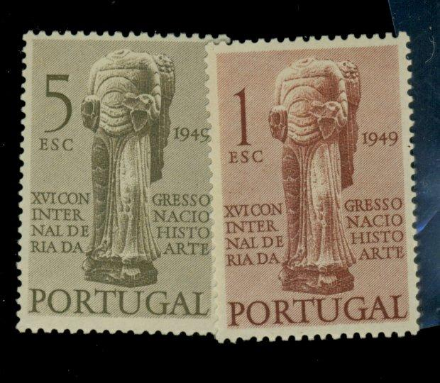 Portugal #711-12 MINT F-VF OG HR CAt$13.75