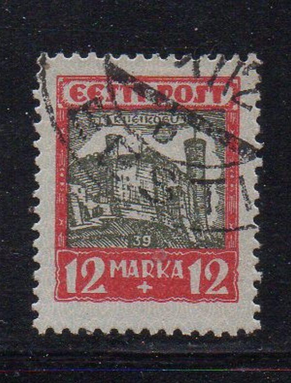 Estonia Sc B17 1927 Tallinn Castle stamp used