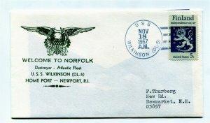 US Naval Ship Cover - USS NORFOLK (DL-5) - 1967