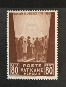 Vatican City 1942 #79, MNH, Bend-See Note, CV $.25