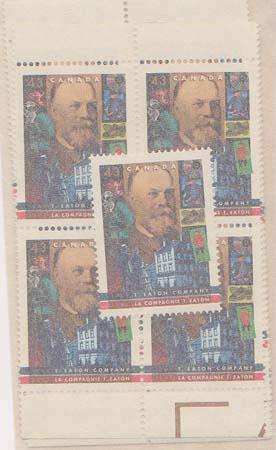 Canada #1510 Mint (Inc. Blocks) VF-NH Face Alone $6.45 1994 43c T. Eaton Co.