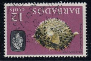 Barbados, SG 329w, used Watermark Inverted variety