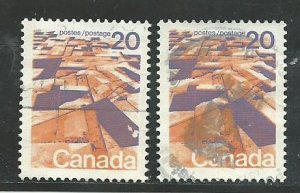 Can #596   (2)  used 1972 PD