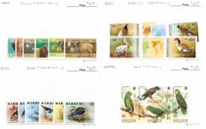 Lot of 80 Worldwide MNH Mint Never Hinged Assorted Animal Stamps #115218 X R