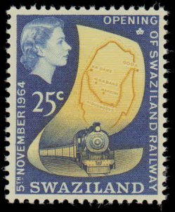 Swaziland #111-114, Complete Set(4), 1964, Railroad Related, Never Hinged