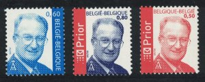 Belgium King Albert II Prior Definitives 3v MI#3313-3315