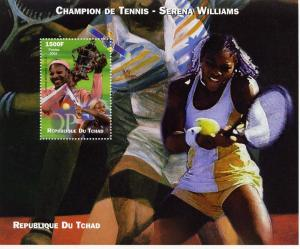 Chad 2002 Serena Williams Champion of Tennis S/S perforated MNH VF