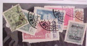 CHINA STAMPS 7 DIFF. #583-8,674,808 USED cat.$51.00