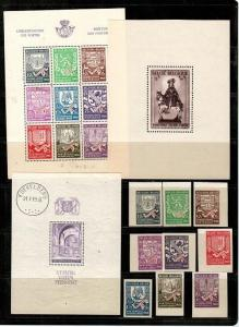 Belgium small selection #B279 is hinged, the rest are mint NH [TB364] - CV $86