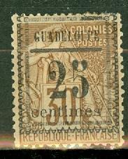 Guadeloupe 9 mint CV $52.50