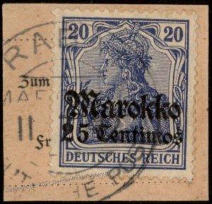 Germany 1911 RABAT Morocco Marokko Mi49 USED 102555