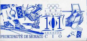 Booklet - Monaco 1993 Olympic Committee Session 36f bookl...