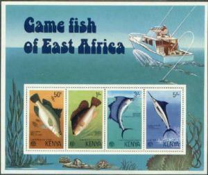 HERRICKSTAMP KENYA Sc.# 71A Game Fish S/S