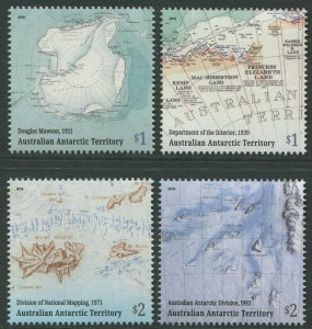 MAPPING THE AUSTRALIAN ANTARCTIC TERRITORY 2019 - MNH SET OF FOUR (G122/3)