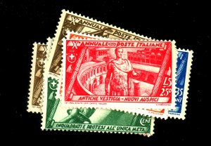Italy #290 292-6 302 305 MINT F-VF OG LH/HR 302 No gum Cat $85