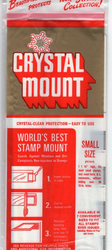 CRYSTAL STAMP MOUNT