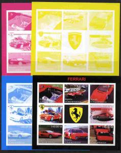 Turkmenistan 1999 Ferrari sheetlet containing set of 8 va...