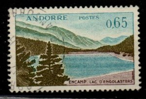 Andorra (Fr) Sc 151 1961 65c Engolasters Lake stamp used
