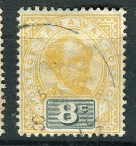 SARAWAK; 1899 early C. Brooke issue fine used 8c. value
