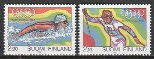 1992 Finland - Sc 878-9 - MNH VF - 2 single - 1992 Olympic Games
