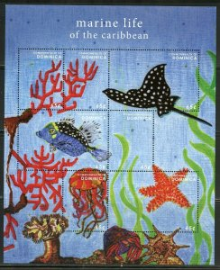 DOMINICA MARINE LIFE OF THE CARIBBEAN SHEET MINT NH