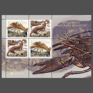 Liechtenstein Stamps 2021-Europe-Endangered wildlife.Full sheet (2x2) mint **