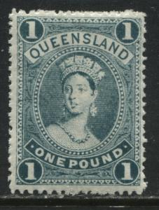 Queensland QV 1907 £1 green mint o.g.