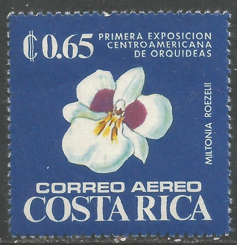 COSTA RICA C619 MOG ORCHIDS Z2842