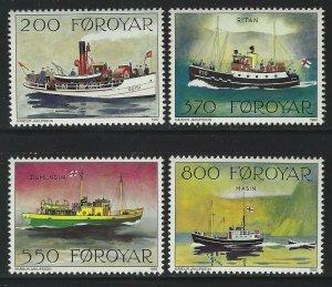 Faroe Islands 1991 Mail Boats set Sc# 232-35 NH