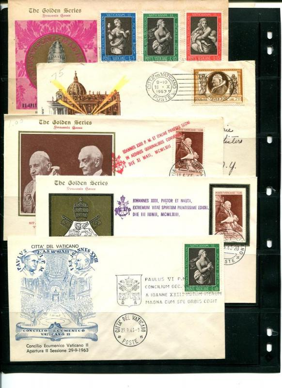 Vatican 1963/64 - 10 FDC , cards  3 addressed VF