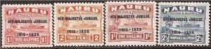 Nauru - 1935 George V Silver Jubilee - 4 Stamp Set MH - Scott #31-4