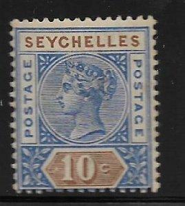 SEYCHELLES, 7,  HINGED, QUEEN VICTORIA