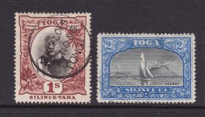 Tonga the used 1/- & 2/- from the 1897 set