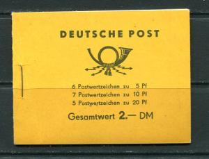 Germany 1957 Complete booklet LP98/57  Mi MH 2 MNH Cv 200 euro 7302