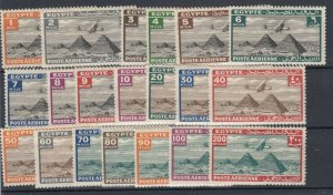 Egypt 1933/38 Airmail Set To 200 Mils SG193/213 (No SG195) MH JK1171