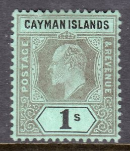 Cayman Islands - Scott #27 - MH - 2 small tears above A and Y - SCV $11