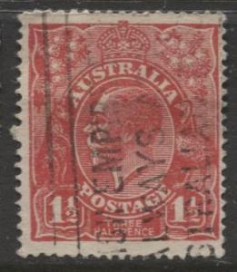 Australia - Scott 68 - KGV Head -1926 - FU - Wmk 203 - 1.1/2p Stamp6