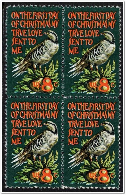 SC#1445 8¢ Christmas: Wyeth Block of Four (1971) MNH