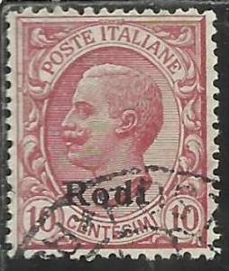 COLONIE ITALIANE EGEO 1912 RODI SOPRASTAMPATO D´ITALIA ITALY OVERPRINTED CEN...