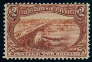 US Scott #293 Mint, F, Hinged