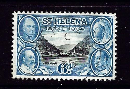 St Helena 106 Used 1934 issue light cancel