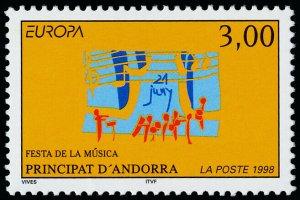Andorra Fr 496 MNH EUROPA, Music Festival