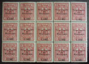 1942 MONTENEGRO -WWII-ITALY-REVENUES-CAT. 300 EURO-BLOCK OF 15 R! yugoslavia J8
